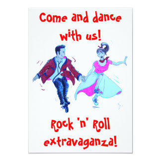 swing rock and roll dance invitation