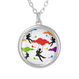 Swing Silver Plated Necklace