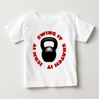 Swing Snatch Jerk Block (2100 x 2100 x 150 ppi) Baby T-Shirt