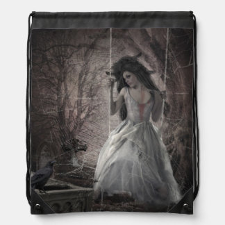 Swing The Time Away Drawstring Backpack