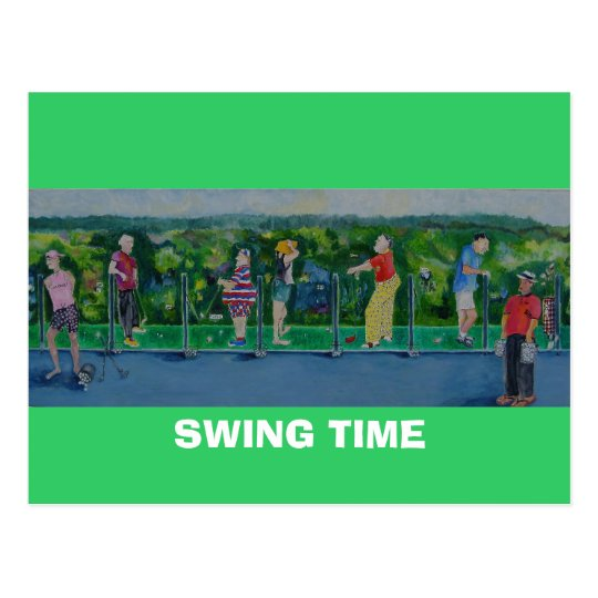 SWING TIME - Postcard  Golf Outing Invite