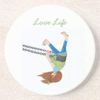 Swing Time Sandstone Coaster