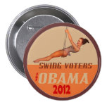 Swing Voters for Obama 2012 Pinback Button
