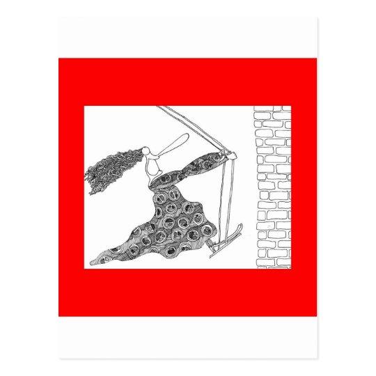 swing wall postcard