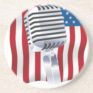 Swing when your Singing USA Drink Coaster