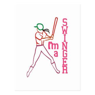 Swinger Girl Postcard