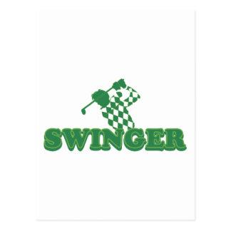 Swinger (Golf) Postcard