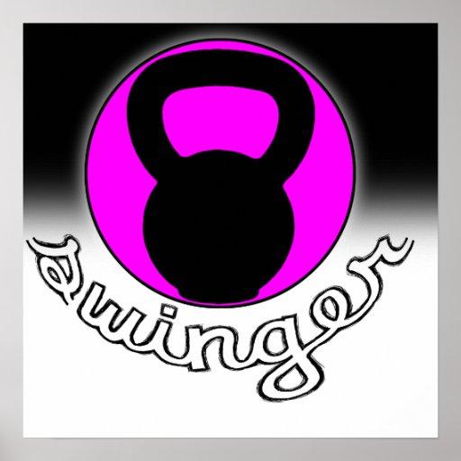 """""""Swinger"""" Kettlebell Fitness Poster"""