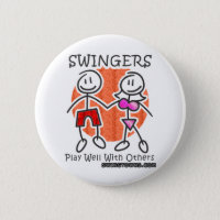 Swinger lapel pin apple