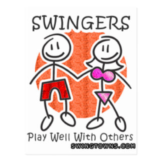 Swingers Play Well Together Postcard