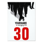 "Swingers Rat Pack 30th Birthday Party 5"" X 7"" Invitation Card"