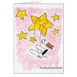 Swingin del fox terrier del alambre en una estrell tarjeton