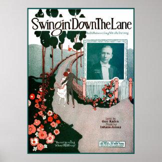 Swingin Down The Lane by Isham Jones Poster