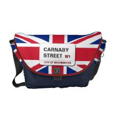 Swinging 60s Carnaby Street Medium Zero Messenger Bag at Zazzle