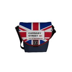 Swinging 60s Carnaby Street Mini Zero Courier Bag at Zazzle