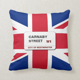 Swinging 60s Carnaby Street Throw Pillow at Zazzle