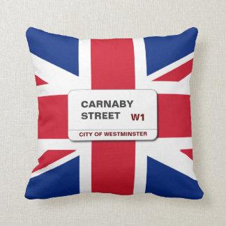 Swinging 60s Carnaby Street Throw Pillow