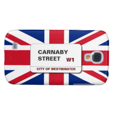 Swinging 60s Carnaby Street Union Jack HTC Vivid Samsung Galaxy S4 Cover at Zazzle