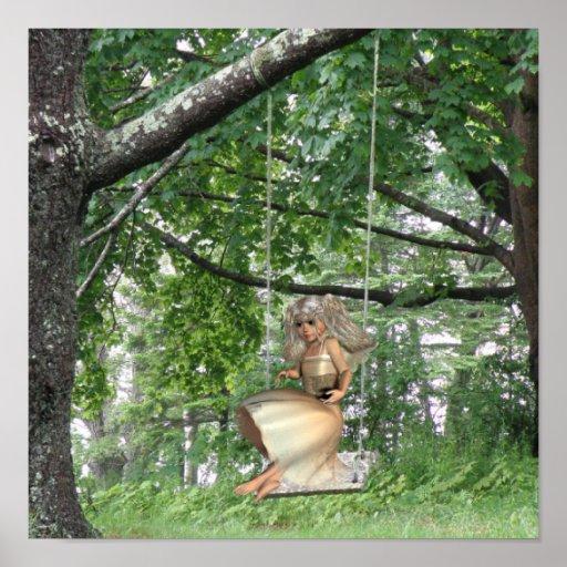 Swinging Angel Poster