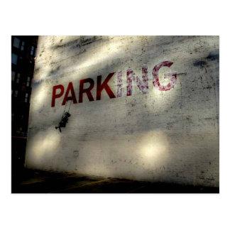 Swinging at the Park(ing) Postcard