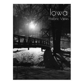 Swinging Bridge In Ames Iowa Postcard