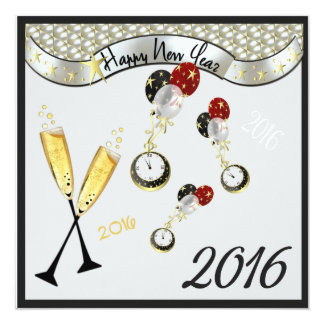 Swinging Clocks New Year Count Down Card