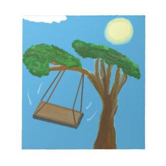 Swinging Free Notepad
