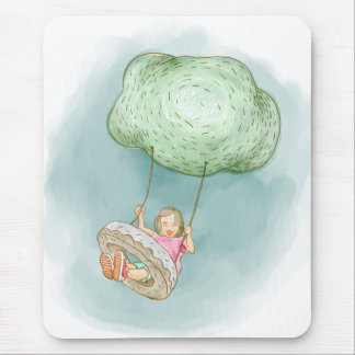 Swinging from the clouds mouse pad
