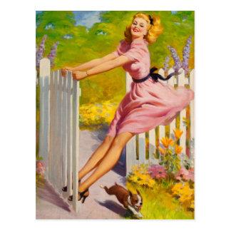 Swinging Into verano, 1945 Postal