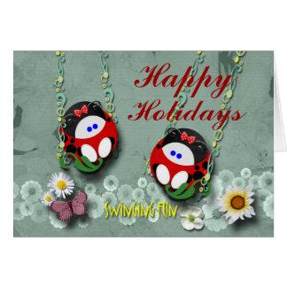 Swinging Ladybugs Card
