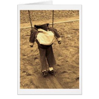 swinging life card