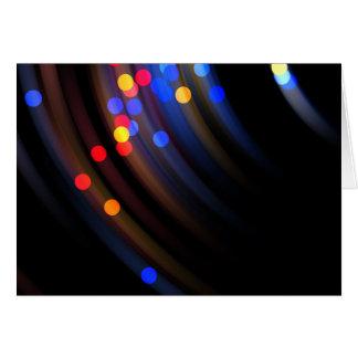 Swinging Lights Greeting Card