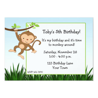 Swinging Monkey Invitation