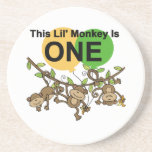 Swinging Monkeys 1st Birthday t shirts and Gifts Drink Coasters