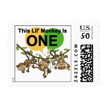Swinging Monkeys 1st Birthday t shirts and Gifts Postage