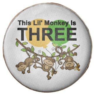 Swinging Monkeys 3rd Birthday Dipped Oreos Chocolate Dipped Oreo