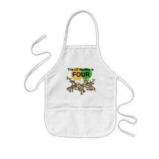 Swinging Monkeys 4th Birthday Tshirts and Gifts Kids' Apron