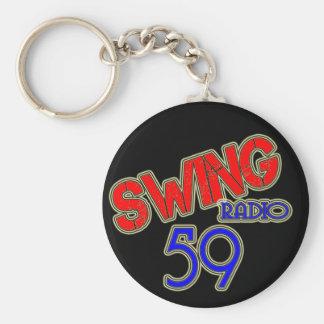 Swinging radio 59 key-ring keychain