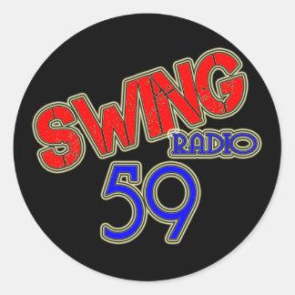 Swinging radio 59 round stickers
