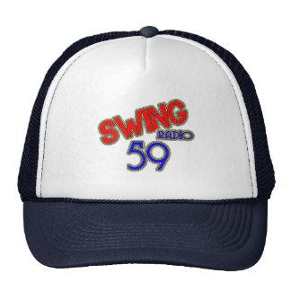 Swinging radio 59 trick cherry cap trucker hat