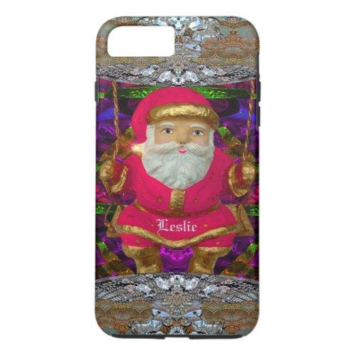 Swinging Santa   Christmas iPhone 8 Plus7 Plus Case