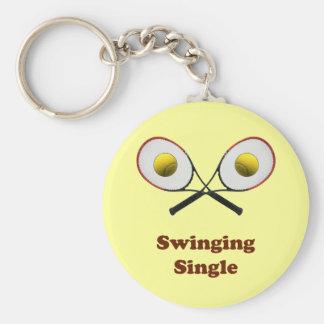 Swinging Single Tennis Keychain