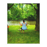 Swinging Stretched Canvas Print
