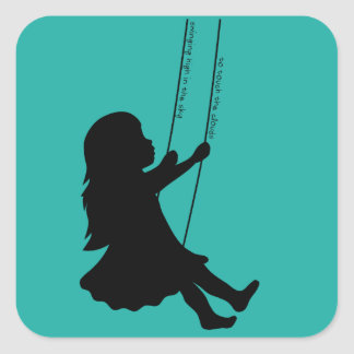 Swinging to the Clounds Square Sticker
