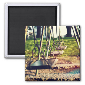 Swings 2 Inch Square Magnet