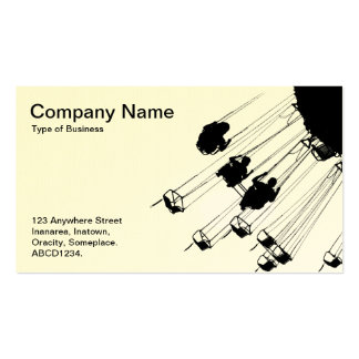 Swings and Roandabouts - White (Egg shell) Business Card Templates