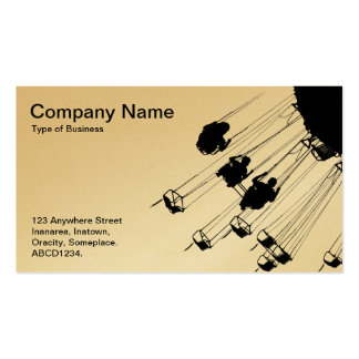Swings and Roandabouts - White (Gold) Business Card