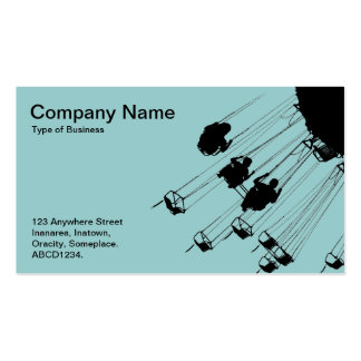 Swings and Roundabouts - Light Blue Green Business Card Templates