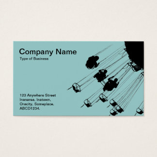 Swings and Roundabouts - Light Blue Green Business Card