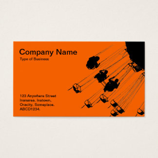 Swings and Roundabouts - Orange Business Card